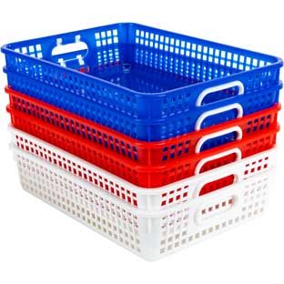 Classroom Paper Baskets – Patriotic – Set Of 6