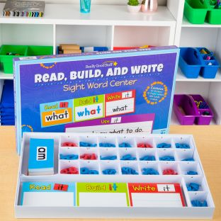 Read, Build, And Write Sight Word Center