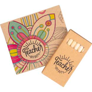 Teacher Off Duty Adult Coloring Book and Pencil Set