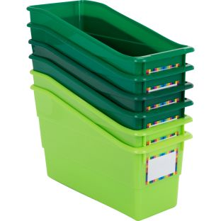Durable Book And Binder Holders – Go Green – Set Of 6