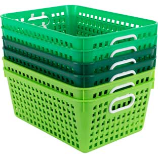 Large Baskets – Go Green – Set Of 6