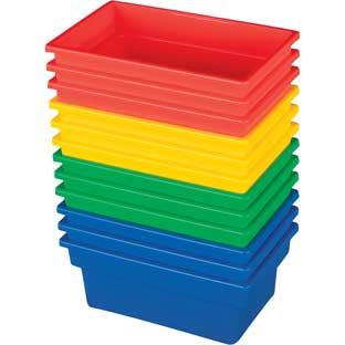 Small All-Purpose Bins  Set Of 12  4 Colors