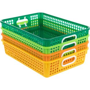 Classroom Paper Baskets – Citrus – Set Of 4