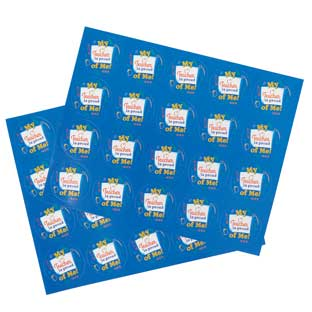 Reward Stickers - School Tools Pattern - 40 stickers
