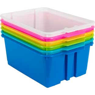 Classroom Stacking Bins – Tropics – Set Of 6