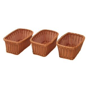 Wicker-Look Baskets – Set Of 3