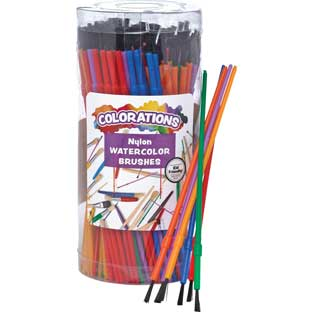 Colorations® Watercolor Paintbrush Classroom Pack – 144 Pieces