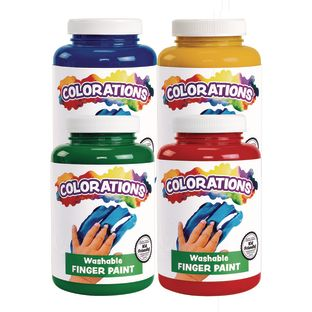 Colorations® Washable Finger Paint – 16 oz. 4-Pack