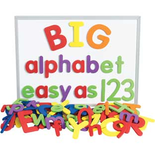 Excellerations® Giant Foam Magnetic Alphabet Letters and Numbers   114 Pieces
