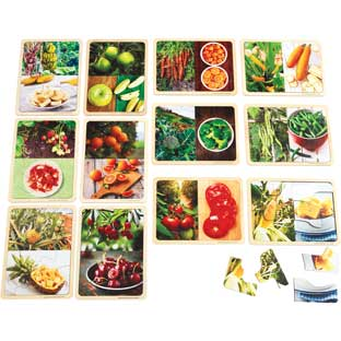 Excellerations® Fruit and Vegetable Photo Puzzles Set of 12