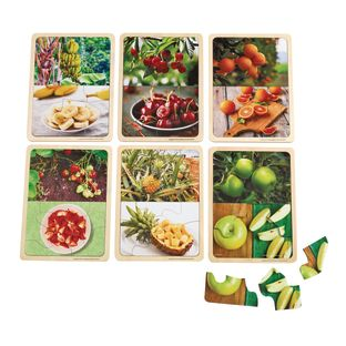 Excellerations® Fruit Photo Puzzles Set of 6