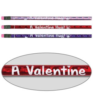 Valentine Hug From Your Teacher Pencils - 12 pencils