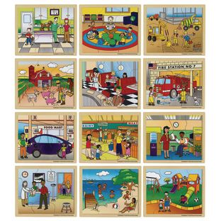 Excellerations® In My Community Puzzles - Set of 12