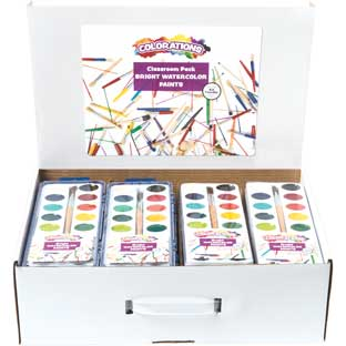 Colorations® 16 Color Watercolor Classroom Pack - Set of 40