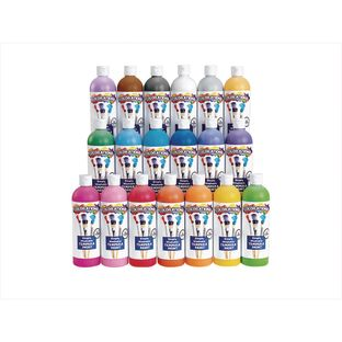 Colorations® Simply Washable Tempera Paints, 16 oz. Set of 19