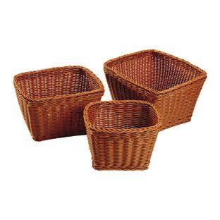 Wicker-Look Baskets Rectangle - Set of 3