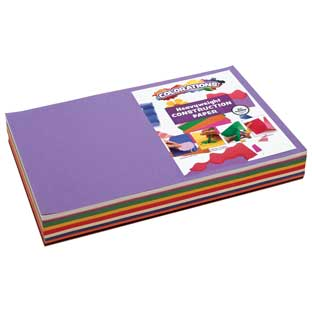 "Colorations® 12"" x 18"" Construction Paper Smart Pack – 300 Sheets"