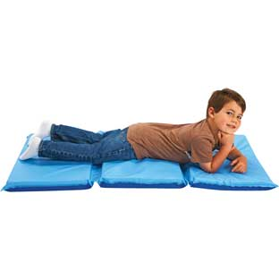 "2"" Germ-Free Two-Tone Blue Rest Mat"