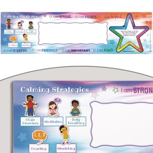 Social-Emotional Learning Self-Adhesive Deluxe Plastic Desktop Helpers