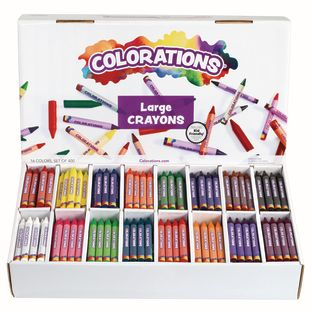 Colorations® Large Crayons - 16 Colors, Set of 400