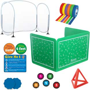 Student and Teacher Distancing Kit - 1 multi-item kit