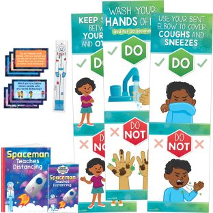 Spaceman Teaches Distancing Deluxe Kit - Grades Pre-K - 1
