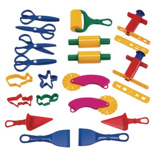 Colorations® Dough Tools Starter Set - 21 Pieces