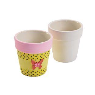 Colorations® Ceramic Flowerpots - Set of 12