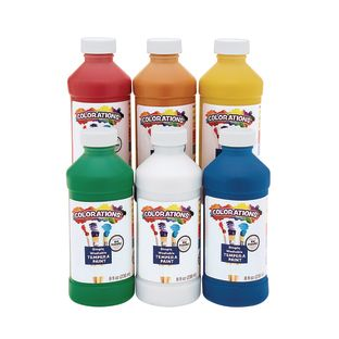 Colorations Simply Washable Tempera 8 oz. - Set of 6