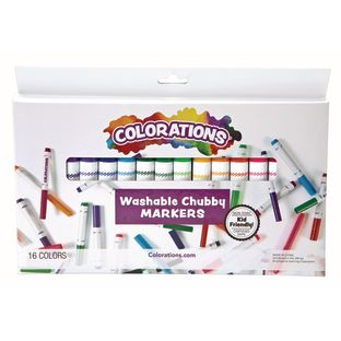 Colorations Washable Chubby Markers Set of 16