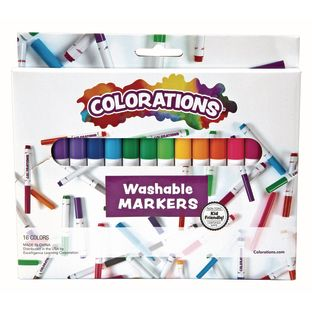 Colorations Washable Classic Markers, Set of 16
