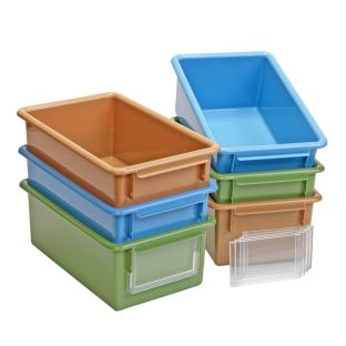 Easy-Label Bins - Set of 6