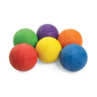 Excellerations Premium Rubber Playground Balls - Set of 6