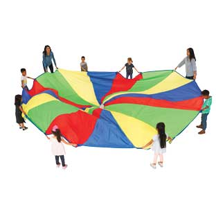 Excellerations Brawny Tough Rainbow Parachute - 20'Dia.