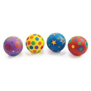 "Excellerations Whimsical Playground Balls - 5"", Set of 4"