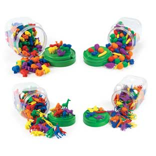 Excellerations Math Manipulatives - 4 Different Sets, 444 Pieces Total