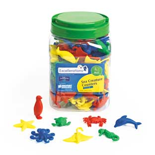 Excellerations Under The Sea Creatures - 128 Pieces