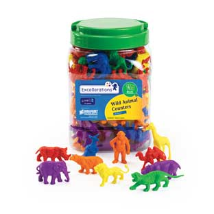 Excellerations Wild Animal Counters - 120 Pieces