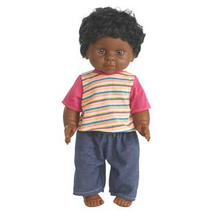 "16"" Multicultural Toddler Doll - African American Boy - 1 doll"