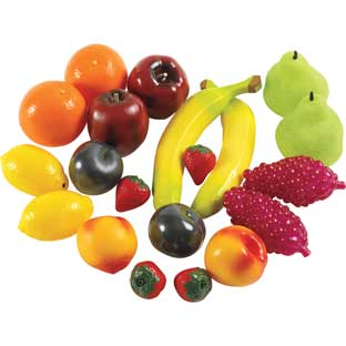 Life-Sized Fruit and Veggies - 38 Pieces