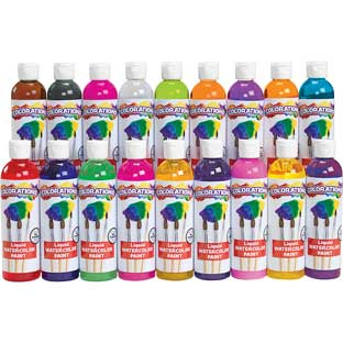 Colorations® Liquid Watercolor Paints, 8 oz. - Set of 18