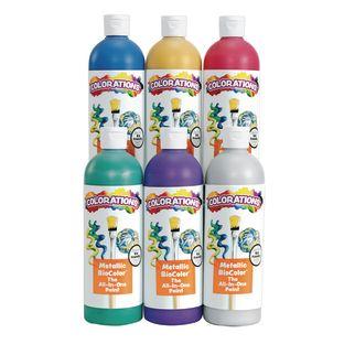 BioColor® Paint, Metallic Colors, 16 oz. - Set of 6