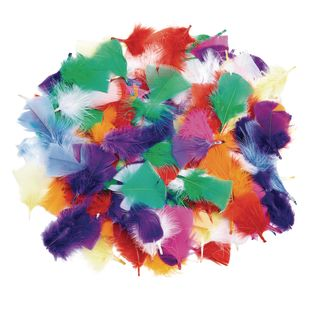 Colorations® Rainbow Feathers - 3 oz.