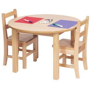 "30"" Round Maple Laminate Table - 20""H"