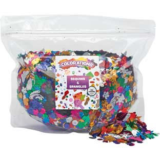 Colorations® Sequins and Spangles - 1 lb.