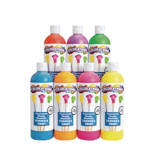Colorations® Fluorescent Simply Washable Tempera - Set of 7
