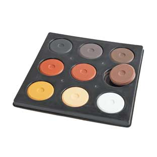9 Color Multicultural Mini Tempera Cake - 9 tempera cakes