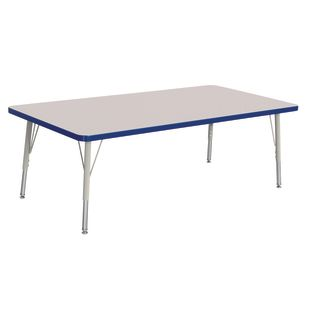 "Berries 30"" x 60"" Rectangle Activity Table,  15"" - 24"" Leg Height - Blue"