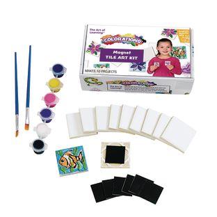 Colorations Mini Tile Magnets Art Kit - Set of 10