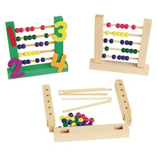 Colorations Easy-Build Abacus Set of 6